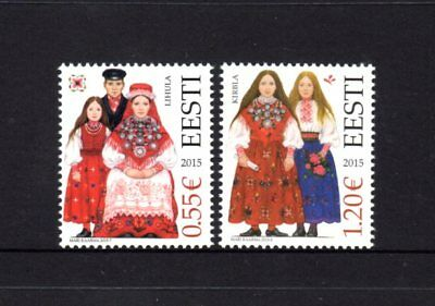 Estonia 2015 Folk Costumes Set 2 MNH