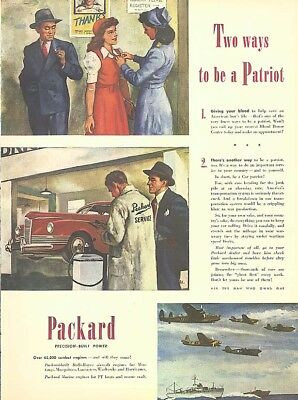 Two ways to be a patriot Packard Sedan ad 1945
