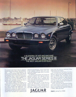 Jaguar Series III XJ Sedan ad 1982