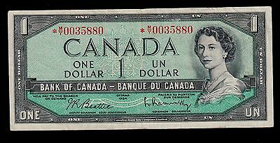 CANADA 1 DOLLAR REPLACEMENT  ( 1961-72 )  PICK # 74b  VF- BANKNOTE.