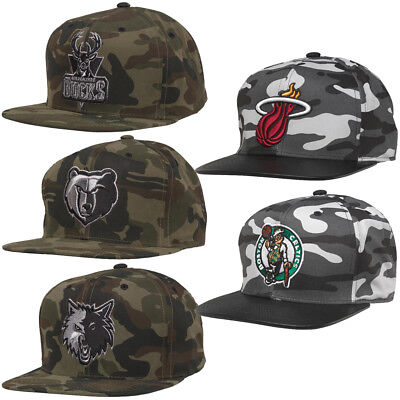 Mitchell & Ness Cap Miami Heat Celtics Timberwolves Bucks Grizzlies Baseball Hat