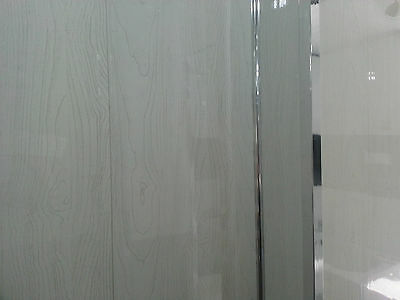 40 WHITE Wood PVC Bathroom Cladding Wall Panels - Wood Effect ...