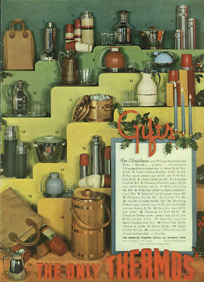 For Christmas give Thermos brand Vacuum Ware ad 1939