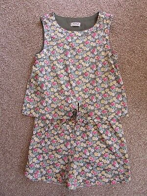Next girls 9 years green floral holiday summer top shorts playsuit - Exc con
