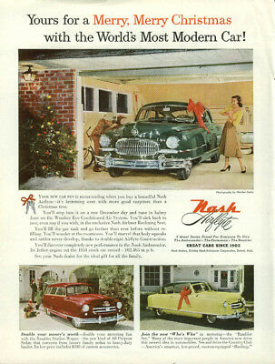 Yours for a Merry Merry Christmas Nash Airflyte & Rambler ad 1952