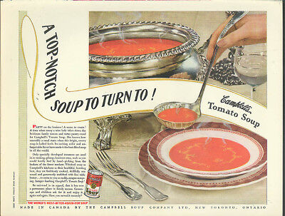 Top-notch soup to turn to! Campbell's Tomato Soup ad 1938