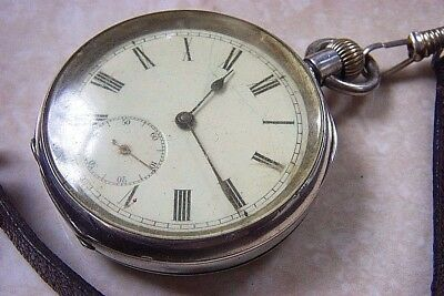 A SILVER CASED OMEGA MANUAL WIND POCKET WATCH c.1910