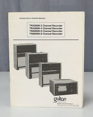 Gulton Industries TR Series Channel Recorder Operation & Service Manual