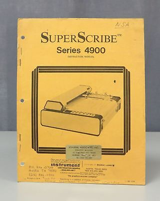 Houston Instrument SuperScribe Series 4900 Instruction Manual 1304