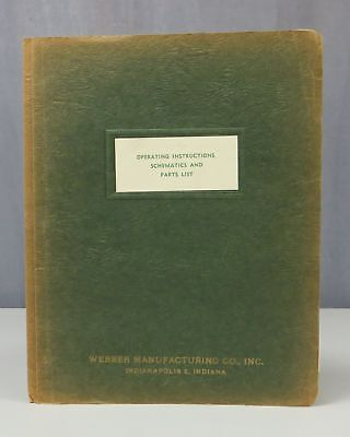 Webber Manufacturing Environmental Chambers Operating Instructions Manual