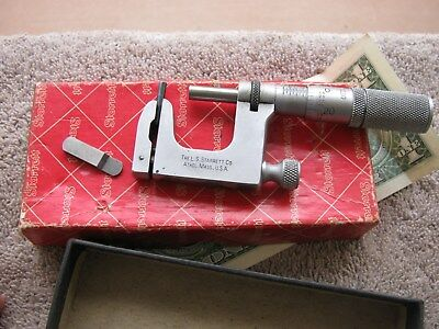 Starrett 220 multi anvil micrometer 0-1   machinist tool