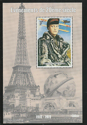 Guinea 6288 - 1998 EVENTS OF 20th CENTURY   - THE RED BARON perf m/sheet u/m