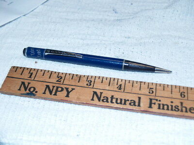Poll Parrot and Trim Tred logo top blue mechanical pencil (6476)
