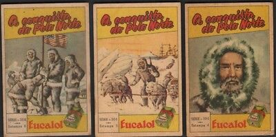 Lot Of 3 Robert Perry North Pole Explorer c60+ Y/0 Trade Advertising Cards