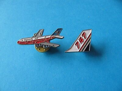 2, Boeing 747 Pin Badges. Aircraft/ Airline