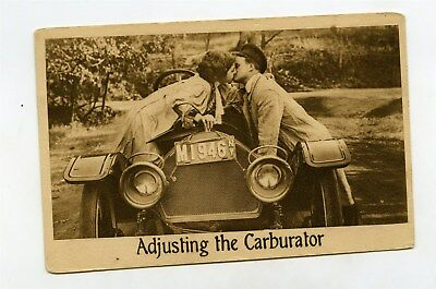 1910 Antique Automobile Speedster Original Comic Postcard ft1637