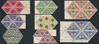 LITHUANIA 1933 AIR SET IN BLOCKS/STRIP OF 6, VF NH  Sc#C71-8 CAT$180