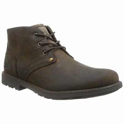Caterpillar Carsen Mid Tan Mens Leather Chukka Laced Ankle Casual Boots
