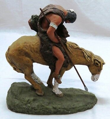 Daniel Monfort Original Western Sculpture End of the Trail Signed 1982 (112)
