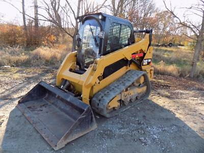 2014 Caterpillar 259 D Skid Steer Loader, Cab, Heat/AC, 2 Speed, Pilot Controls