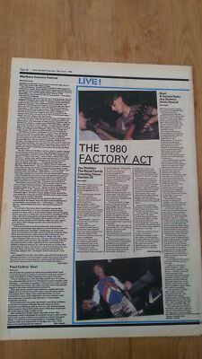 JOY DIVISION 'at the Moonlight club' 1980 ARTICLE / clipping