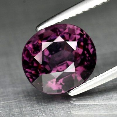 3.33ct 8.8x8mm Oval Natural Purple Spinel, M'GOK