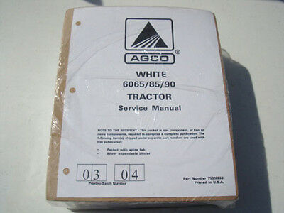 AGCO White 6065, 6085, 6090 Tractor Service, Repair, Shop, Workshop Manual, New