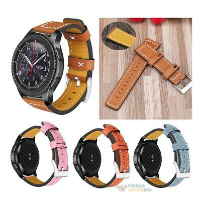 22mm Width Casual Synthetic Leather Watchband Replacement for Samsung Gear S3