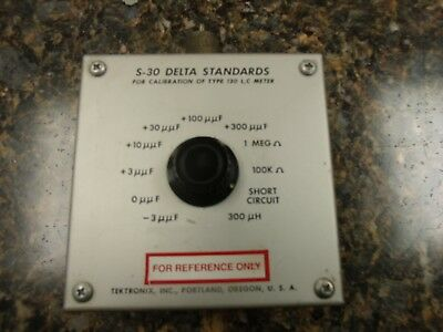 Tektronix S-30 Delta Standards for Calibration of Type 130 L,C Meter  #4so