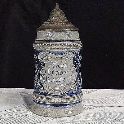 Antique German Beer Stein Made in Germany No Reserve Auction 1940s