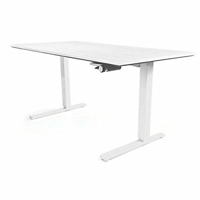 Humanscale Height Adjustable Sit-Stand Float Desk Base & Top: Removable Crank -