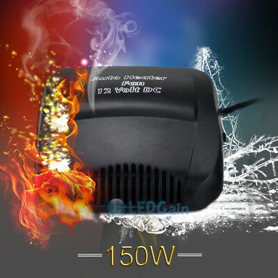 150W Car Vehicle Portable Heater Heating Cooling Fan Defroster Demister 12V USA