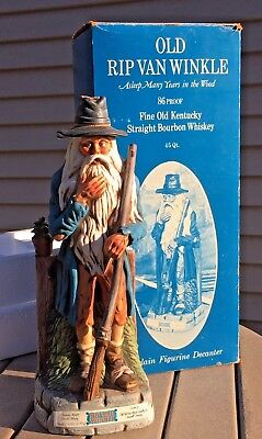Old Rip Van Winkle Asleep Many Years Decanter 1977 Sealed With Box