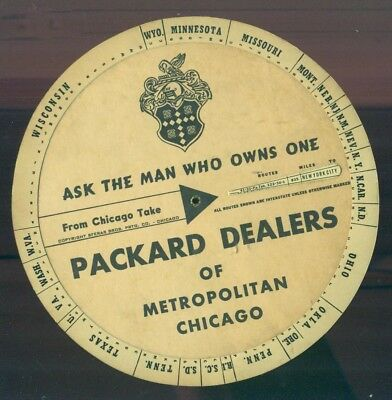 1951 PACKARD Dealers Of Metropolitan Chicago Mileage To And From Paper Wheel wow
