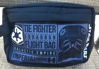 New Star Wars Darth Vader Tie Fighter Galactic Empire Black Travel Toiletry Bag