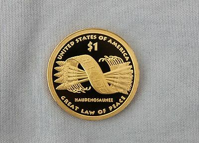 "2010-S Native American ""Great Law of Peace""  Sacagewea Proof Dollar Cameo"