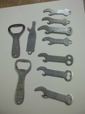 Lot Of 10 Beer Bottle Openers Goetz Storz Schmidt Pabst Many Very Old Ones