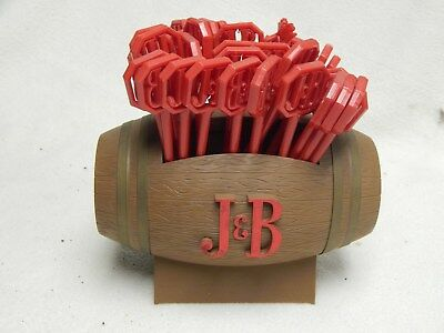 VINTAGE 1950's J&B SCOTCH WHISKY BAR CADDY WITH SWIZZLE STICKS