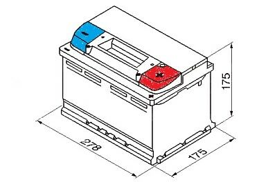 Volvo V90 1997-1998 Bosch S3 Battery 70Ah Electrical System Replacement Part