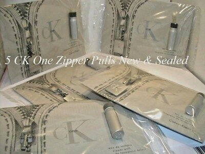 Calvin Klein Ck One Zipper Pull Sealed New On Cards Promotional Collectible X5