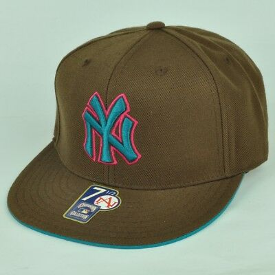 MLB NY New York Yankees American Needle Sports Brown Flat Fitted 7 1 2 Hat 857607648e68