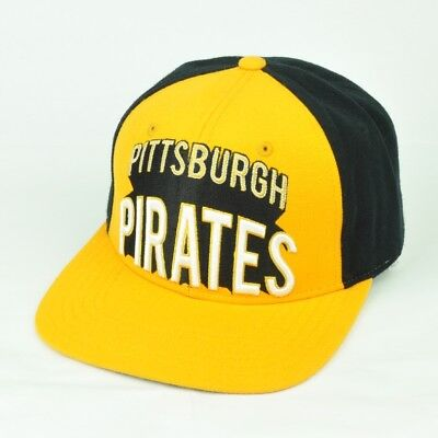 finest selection 61f2a ffc69 MLB American Needle Pittsburgh Pirates Yellow Black Snapback Flat Bill Hat  Cap