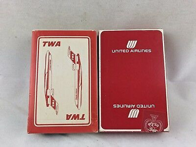Vintage Sealed Deck TWA TRANS WORLD & UNITED AIRLINES ADVERTISING PLAYING CARDS