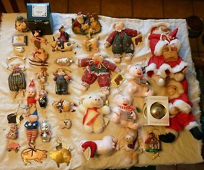 33 Vintage Pig Christmas Ornaments And Other Pig Items  # 1