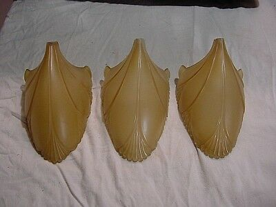 3 Antique Art Deco Slip Shade For Sconce Or Chandelier Glass Shade Replacement