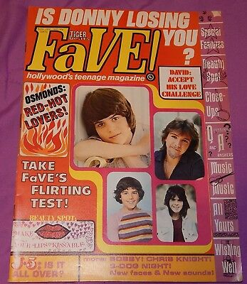 Tiger Beat's FaVE Magazine - Nov 1972 (Osmonds, David Cassidy, Brady Bunch)