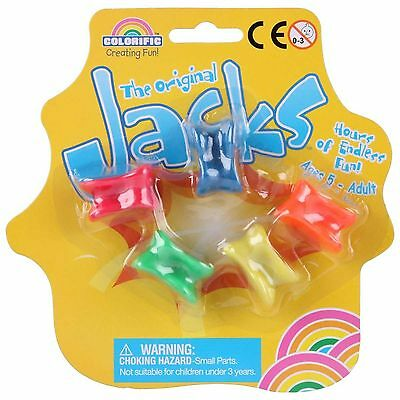 Jacks or Knucklebones - Great Traditional game (With free storage bag)