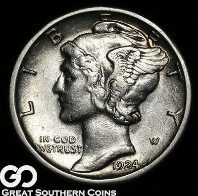 1924-S Mercury Dime, Better Date San Francisco Issue