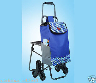 New Blue Chair Six-Tire Convenient Collapsible Shopping Luggage Trolleys