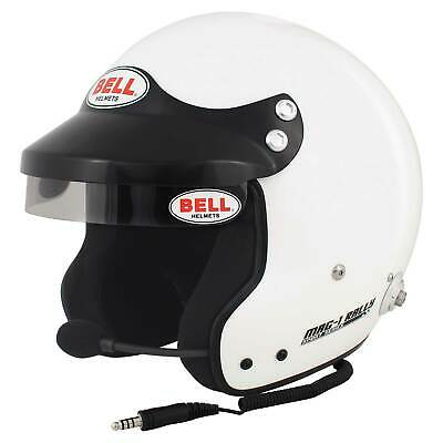 Bell Mag 1 Rally FIA Approved Race Car Open Face Crash Helmet Lid In White